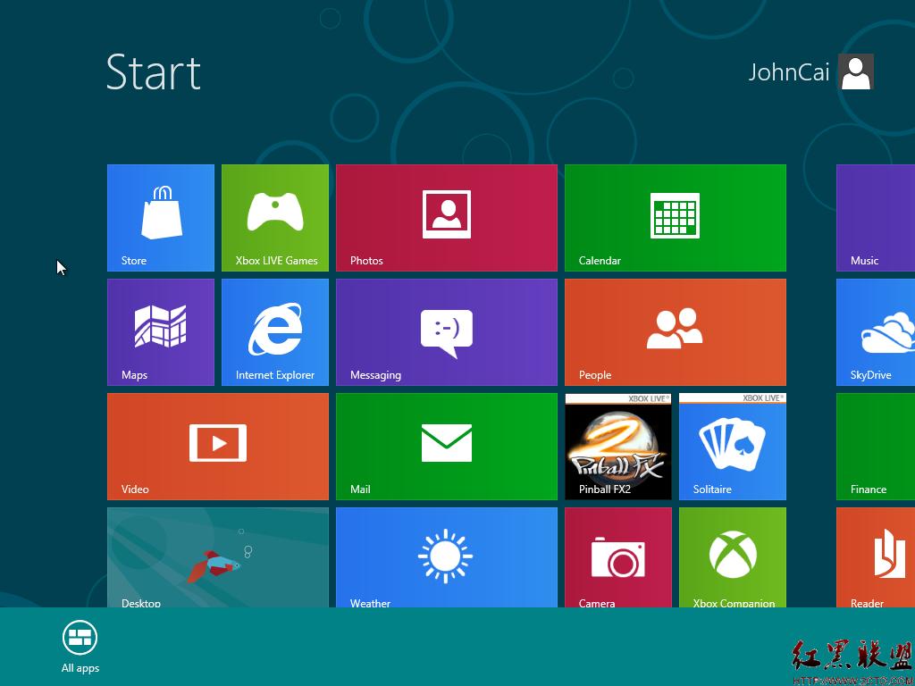 要把APP图标PIN到Start Metro界 在桌面界面下,鼠标移到右下角同
